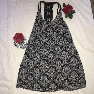 🌞4/$10 Francesca's Crochet Halter Shift Dress